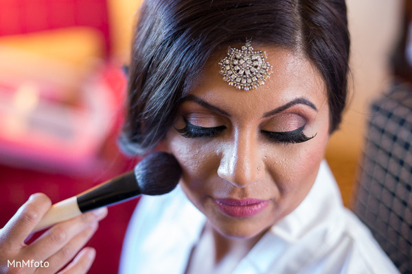 Getting Ready in Dallas, TX Fusion Indian Wedding by MnMfoto Wedding Photography