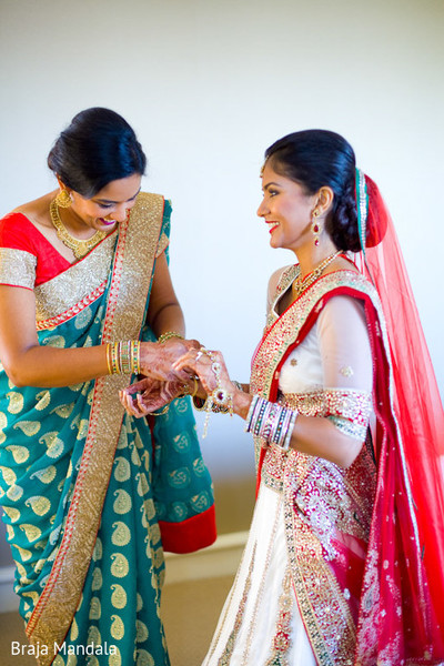 Getting Ready in Long Beach, CA Indian Wedding by Braja Mandala Photography
