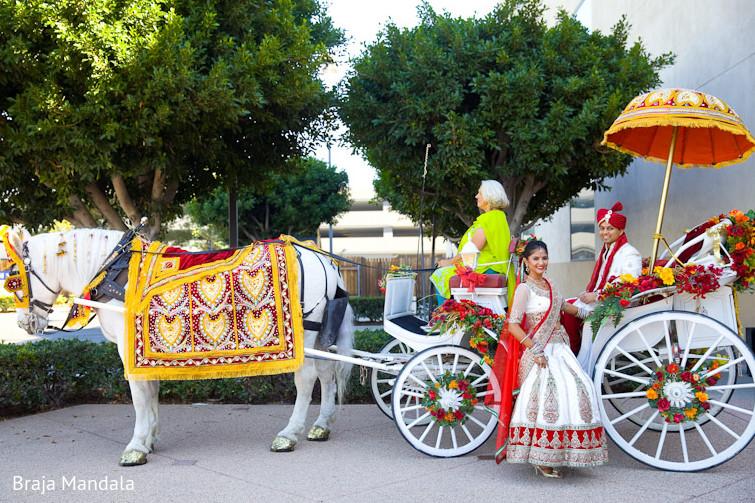 Newport Beach California Indian Wedding By Braja Mandala: First Look In Long Beach, CA Indian Wedding By Braja