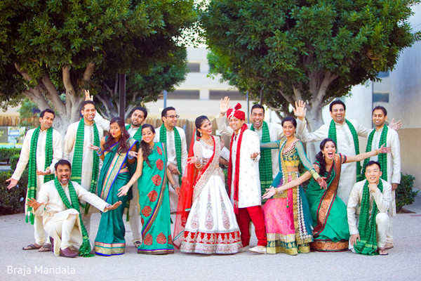 indian bridal party,indian wedding party,indian wedding party portraits