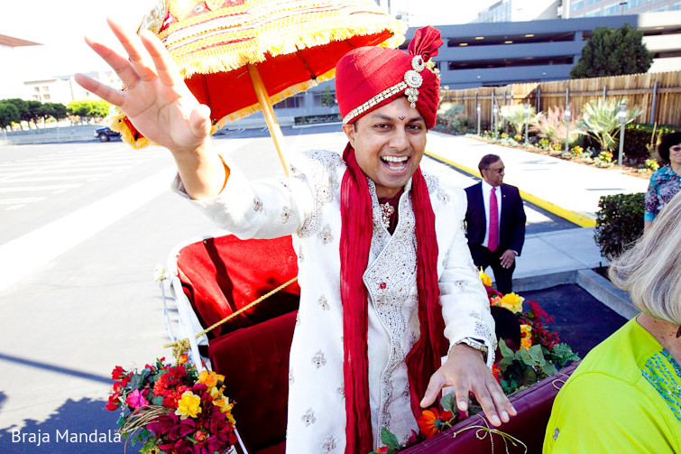 Newport Beach California Indian Wedding By Braja Mandala: Baraat In Long Beach, CA Indian Wedding By Braja Mandala