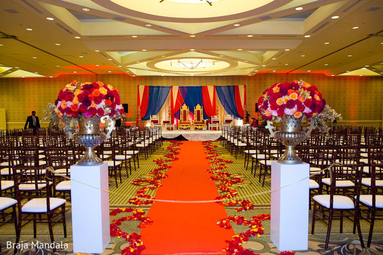 Newport Beach California Indian Wedding By Braja Mandala: Floral & Decor In Long Beach, CA Indian Wedding By Braja
