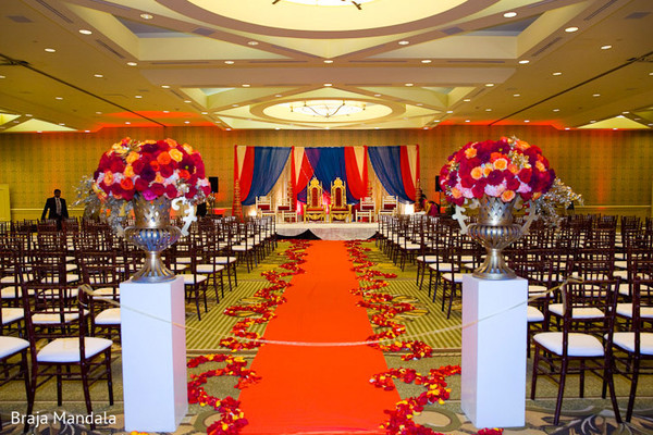 Floral & Decor in Long Beach, CA Indian Wedding by Braja Mandala Photography