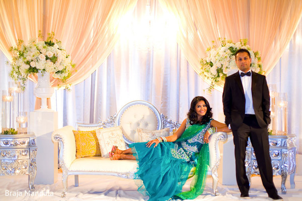 Reception Portrait in Long Beach, CA Indian Wedding by Braja Mandala Photography