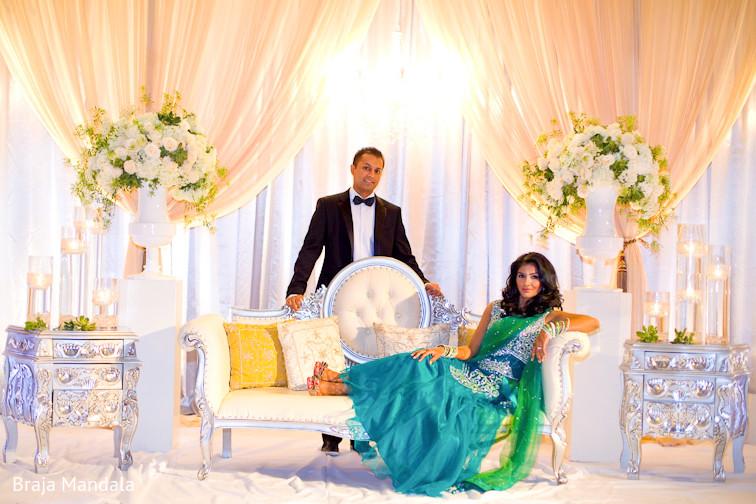 Newport Beach California Indian Wedding By Braja Mandala: Reception Portrait In Long Beach, CA Indian Wedding By