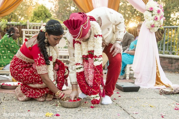Ceremony in Vienna, VA Sri Lankan Fusion Wedding by Zenat Drown Photography