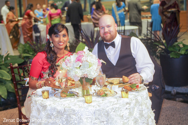 Reception in Vienna, VA Sri Lankan Fusion Wedding by Zenat Drown Photography