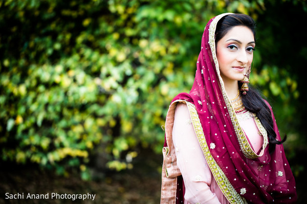 Bridal Portrait in Cherry Hill, NJ South Asian Wedding by Sachi Anand Photography