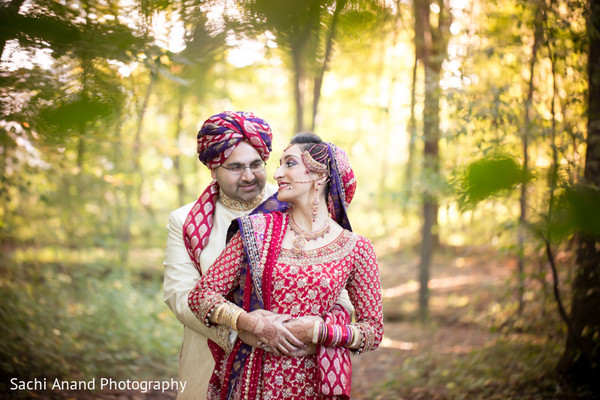 Reception Portrait in Cherry Hill, NJ South Asian Wedding by Sachi Anand Photography