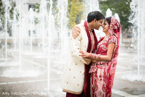 First Look in Memphis, TN Indian Wedding by Amy Hutchinson Photography