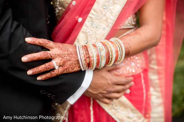 Reception Portrait in Memphis, TN Indian Wedding by Amy Hutchinson Photography