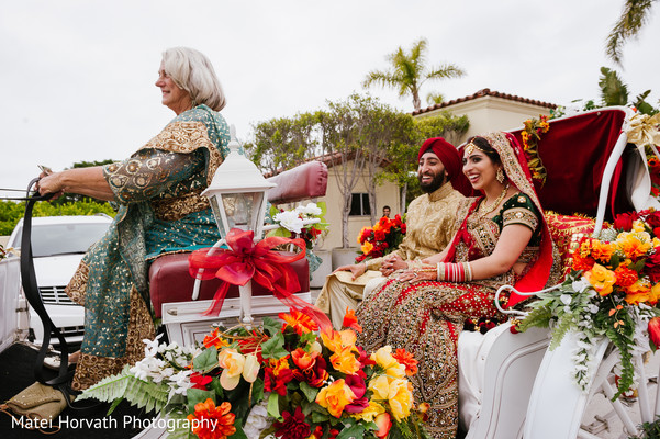 Horse in Laguna Niguel, CA Sikh-Hindu Wedding by Matei Horvath Photography