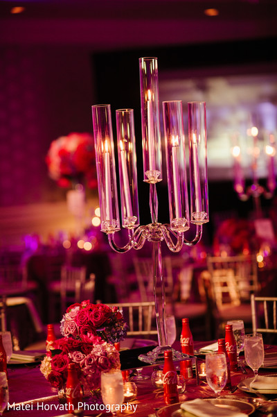 Reception Decor in Laguna Niguel, CA Sikh-Hindu Wedding by Matei Horvath Photography