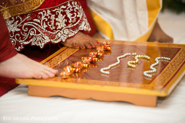 Ceremony in Bloomington, MN Indian Fusion Wedding by Erin Johnson Photography