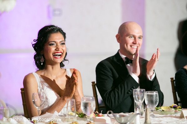 Reception in Bloomington, MN Indian Fusion Wedding by Erin Johnson Photography