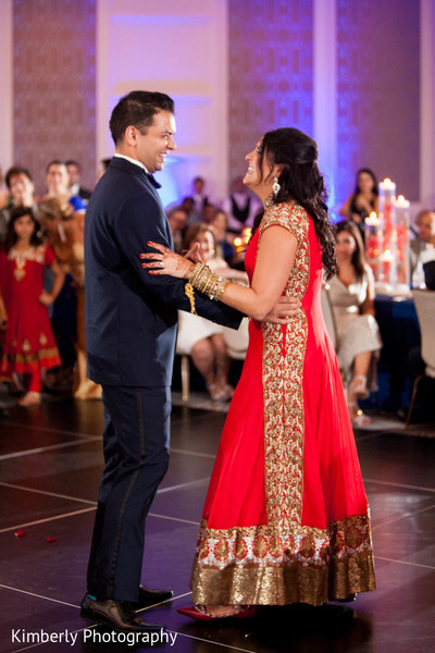 First Dance in Orlando, FL Indian Fusion Wedding by Kimberly Photography