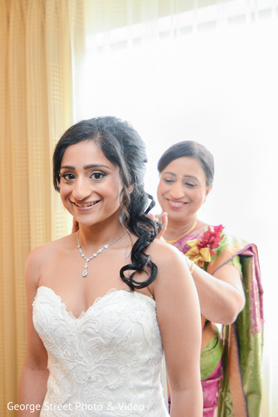 Getting Ready in Cedar Grove, NJ Indian Wedding by George Street Photo & Video