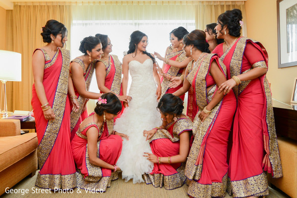 Bridal Party in Cedar Grove, NJ Indian Wedding by George Street Photo & Video
