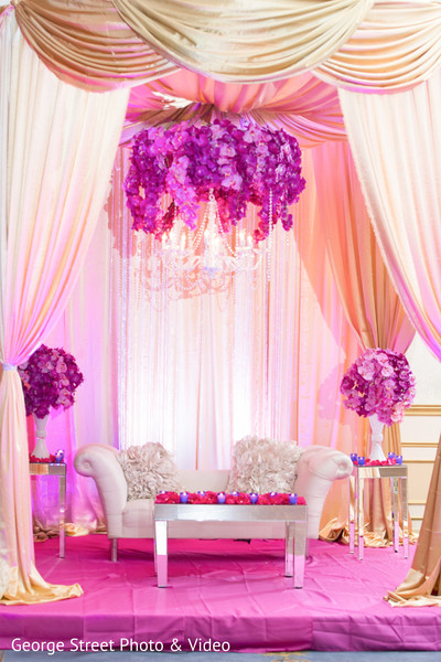 Sweetheart Stage in Cedar Grove, NJ Indian Wedding by George Street Photo & Video