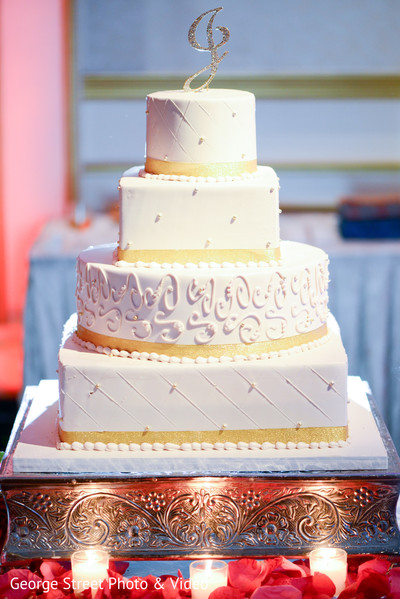Wedding Cake in Cedar Grove, NJ Indian Wedding by George Street Photo & Video