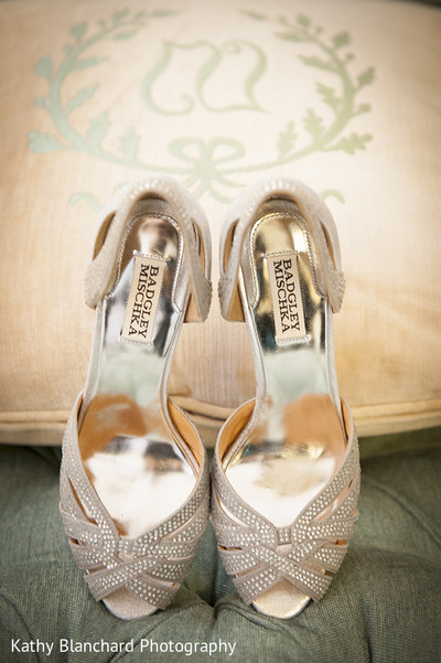 Shoes in Washington, D.C. Indian Fusion Wedding by Kathy Blanchard Photography