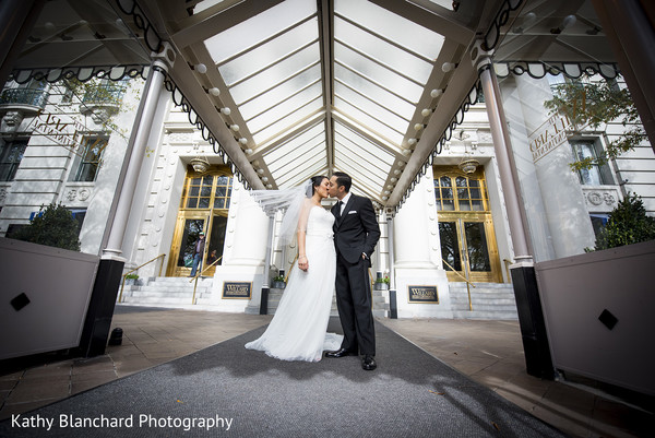 Wedding Portrait in Washington, D.C. Indian Fusion Wedding by Kathy Blanchard Photography
