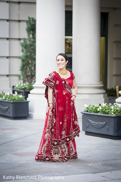 Bridal Portrait in Washington, D.C. Indian Fusion Wedding by Kathy Blanchard Photography