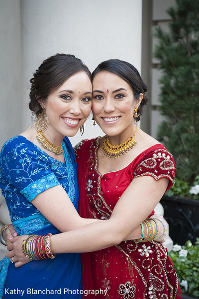 Wedding Party Portrait in Washington, D.C. Indian Fusion Wedding by Kathy Blanchard Photography