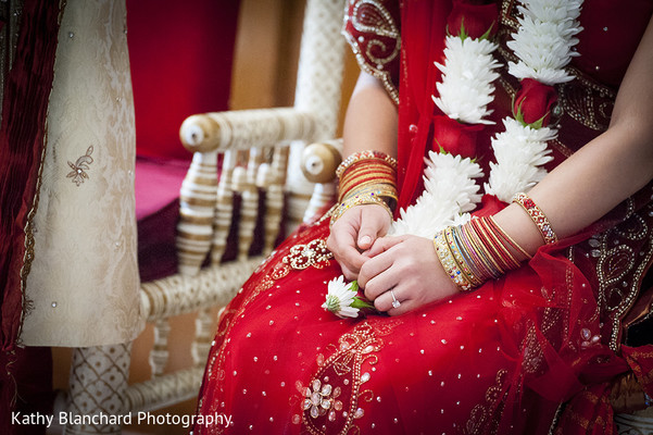 Ceremony in Washington, D.C. Indian Fusion Wedding by Kathy Blanchard Photography