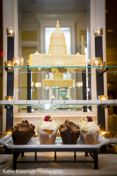 Cakes & Treats in Washington, D.C. Indian Fusion Wedding by Kathy Blanchard Photography