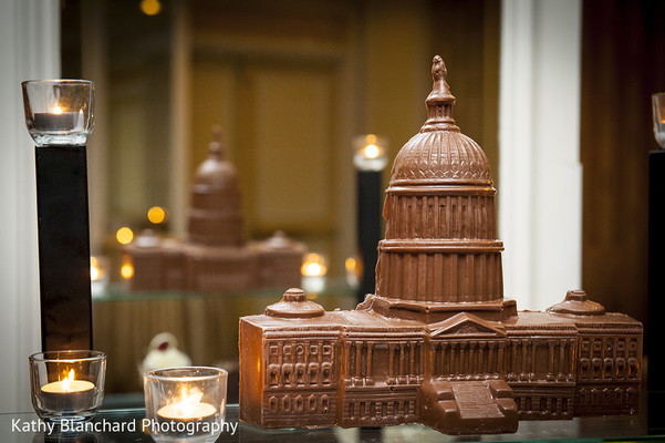 Chocolate Sculpture in Washington, D.C. Indian Fusion Wedding by Kathy Blanchard Photography