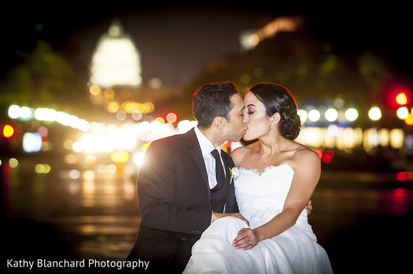 Reception Portrait in Washington, D.C. Indian Fusion Wedding by Kathy Blanchard Photography