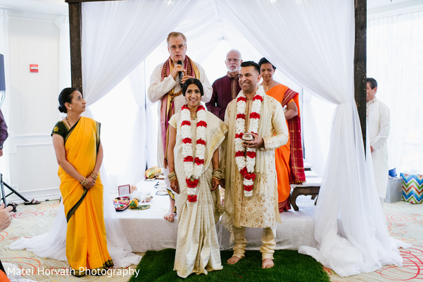 Ceremony in Glendale, CA Hindu-Catholic Wedding by Matei Horvath Photography