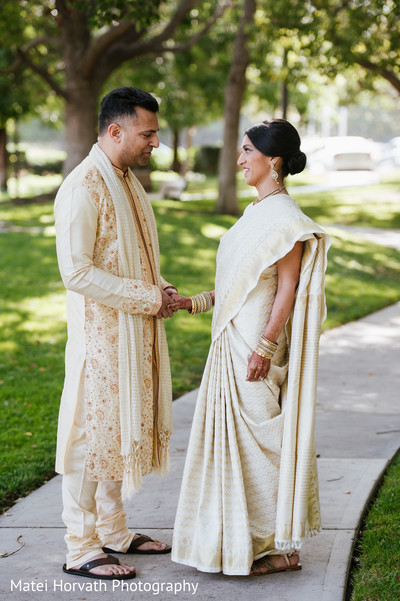 Portraits in Glendale, CA Hindu-Catholic Wedding by Matei Horvath Photography