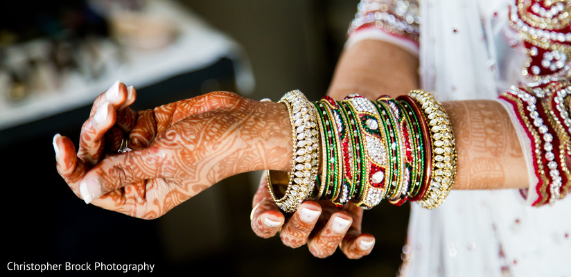Bangles in Spartanburg, SC Indian Wedding by Christopher Brock Photography