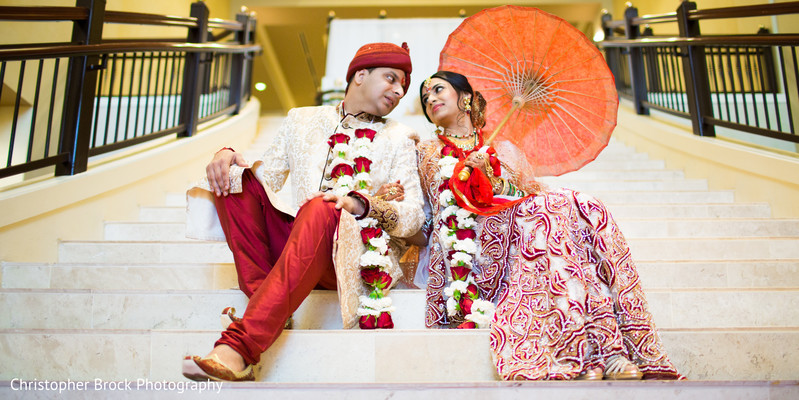 First Look in Spartanburg, SC Indian Wedding by Christopher Brock Photography