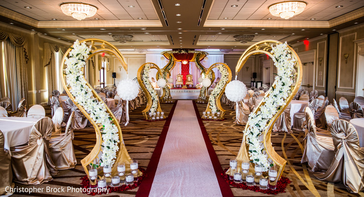 Floral & Decor in Spartanburg, SC Indian Wedding by Christopher Brock Photography