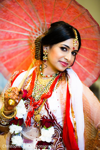 Bridal Portrait in Spartanburg, SC Indian Wedding by Christopher Brock Photography