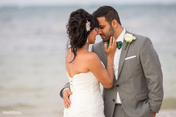 Wedding Portrait in Montego Bay, Jamaica South Asian Wedding by MnMfoto