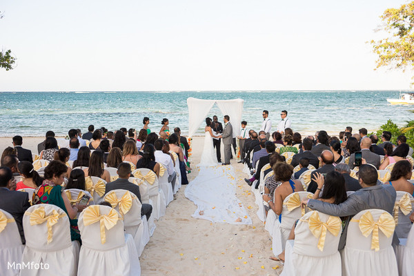 Ceremony in Montego Bay, Jamaica South Asian Wedding by MnMfoto