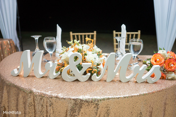 Floral & Decor in Montego Bay, Jamaica South Asian Wedding by MnMfoto