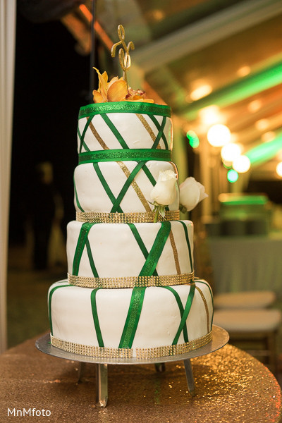 Wedding Cake in Montego Bay, Jamaica South Asian Wedding by MnMfoto
