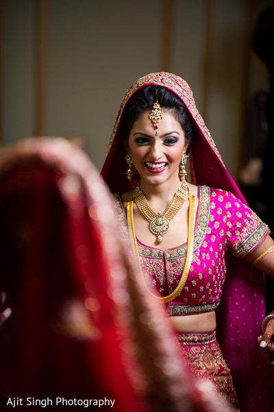 Getting Ready in Woodland Park, NJ Indian Wedding by Ajit Singh Photography