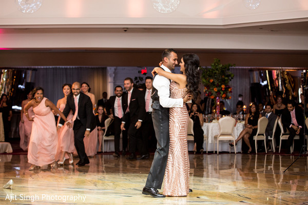 Reception in Woodland Park, NJ Indian Wedding by Ajit Singh Photography