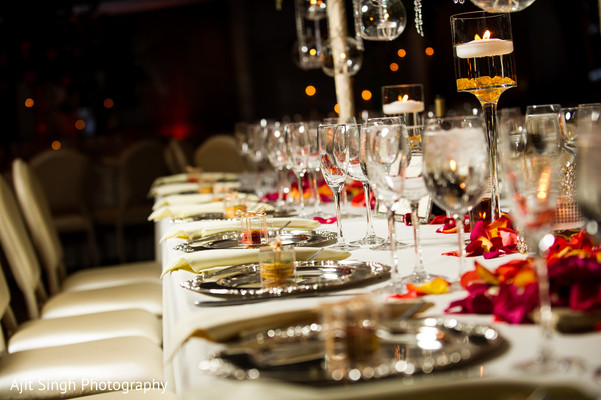 Reception Decor in Woodland Park, NJ Indian Wedding by Ajit Singh Photography
