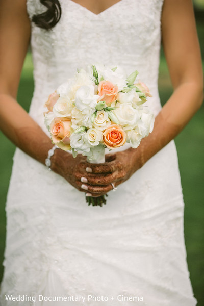 Bridal Bouquet in Walnut Creek, CA Indian Fusion Wedding by Wedding Documentary Photo + Cinema