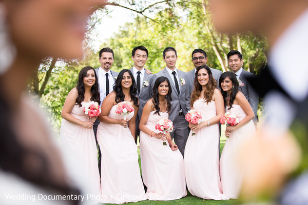 Wedding Party Portrait in Walnut Creek, CA Indian Fusion Wedding by Wedding Documentary Photo + Cinema