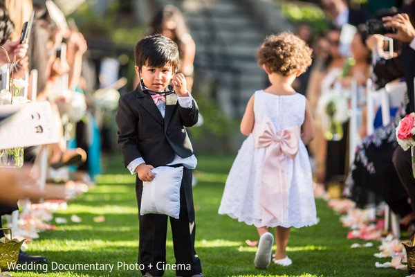 Ceremony in Walnut Creek, CA Indian Fusion Wedding by Wedding Documentary Photo + Cinema