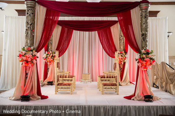 Mandap in Walnut Creek, CA Indian Fusion Wedding by Wedding Documentary Photo + Cinema