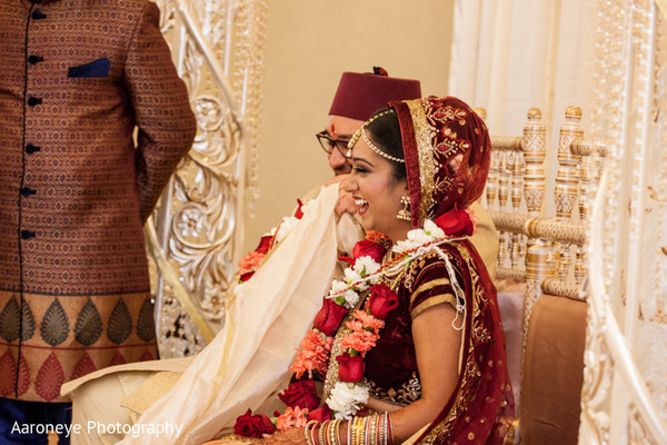 Ceremony in City of Industry, CA Indian Wedding by Aaroneye Photography